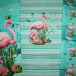 Stenzo Jersey Stoff Panel Flamingo