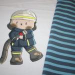 0,65m Feuerwehrbär by EmmaPünktchen French Terry  Jersey Stoff Panel (Grundpreis: 19,85€)