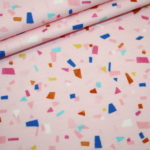 Hilco Jersey Stoff Summer Fun rosa Muster