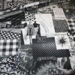 Fotoprint Digitaldruck Dekostoff Fashion schwarz weiß
