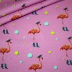 Stenzo Jersey Stoff Flamingo pink