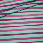 Stenzo Jersey Stoff Streifen pink türkis