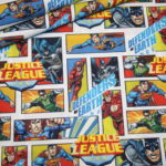 Original Justice League Spiderman Baumwollstoff