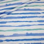 Hilco Jersey Stoff Maritim Streifen blau weiß türkis