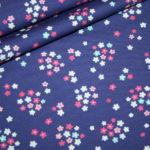 Hilco Jersey Stoff Jatiju lila kleine Blumen Fresh Fruits