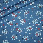 Hilco Jersey Stoff Jatiju blau kleine Blumen Fresh Fruits