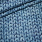 Dünner Sweat Soft Gots Jersey Stoff Cosy Strick Look blau