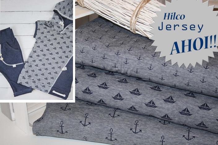 Hilco Maritime Jersey Stoffe!