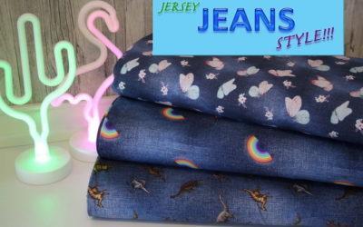 Digitaldruck Jersey Stoffe im Jeans Style!