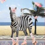 0,80m Frottee Stoff Panel Zebra (1 Meter:19,80€)
