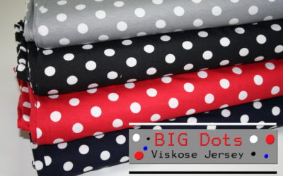 Viskose Jersey Stoff Big Dots!