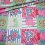 Original Peppa Wutz Pig Jersey Stoff bunt Muster
