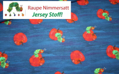 Raupe Nimmersatt Jersey Stoff!