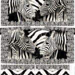 PONCHO Panel Stenzo French Terry Stoff Zebra 2m (1mGrundpreis: 17,95€)