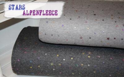Glitzer Sterne Alpenfleece