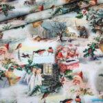 Fotoprint Digitaldruck Jersey Weihnachten Nostalgisch