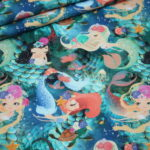 Fotoprint Digitaldruck Jersey Fischschuppen Schuppen Meerjungfrau