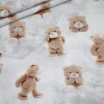 Fotoprint Digitaldruck Jersey Teddybär Bär
