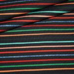 Stenzo French Terry Jersey Stoff schwarz bunte Streifen Cool Girls