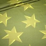 Hilco Dünner French Terry Jersey Stoff by Jatiju Big Pattern senf gelb Sterne