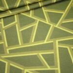 Hilco Dünner French Terry Jersey Stoff by Jatiju Big Pattern senf gelb Muster