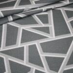 Hilco Dünner French Terry Jersey Stoff by Jatiju Big Pattern grau Muster