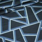 Hilco Dünner French Terry Jersey Stoff by Jatiju Big Pattern blau Muster