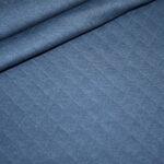 Stepp Jersey Stoff uni jeans blau