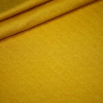 Stepp Jersey Stoff uni senf gelb