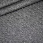 Stepp Jersey Stoff uni dunkel grau meliert