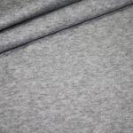 Stepp Jersey Stoff uni hell grau meliert
