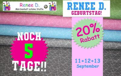 25 Jahre Renee D. Vom 11 bis 13 September!!