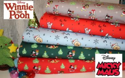 Original Walt Disney Weihnachts Sweatshirt Stoffe!