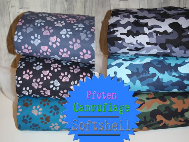 Softshell Pfoten und Camouflage!